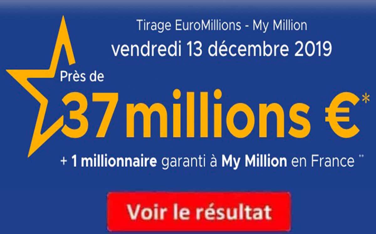 Résultat des 50 derniers tirages euro millions
