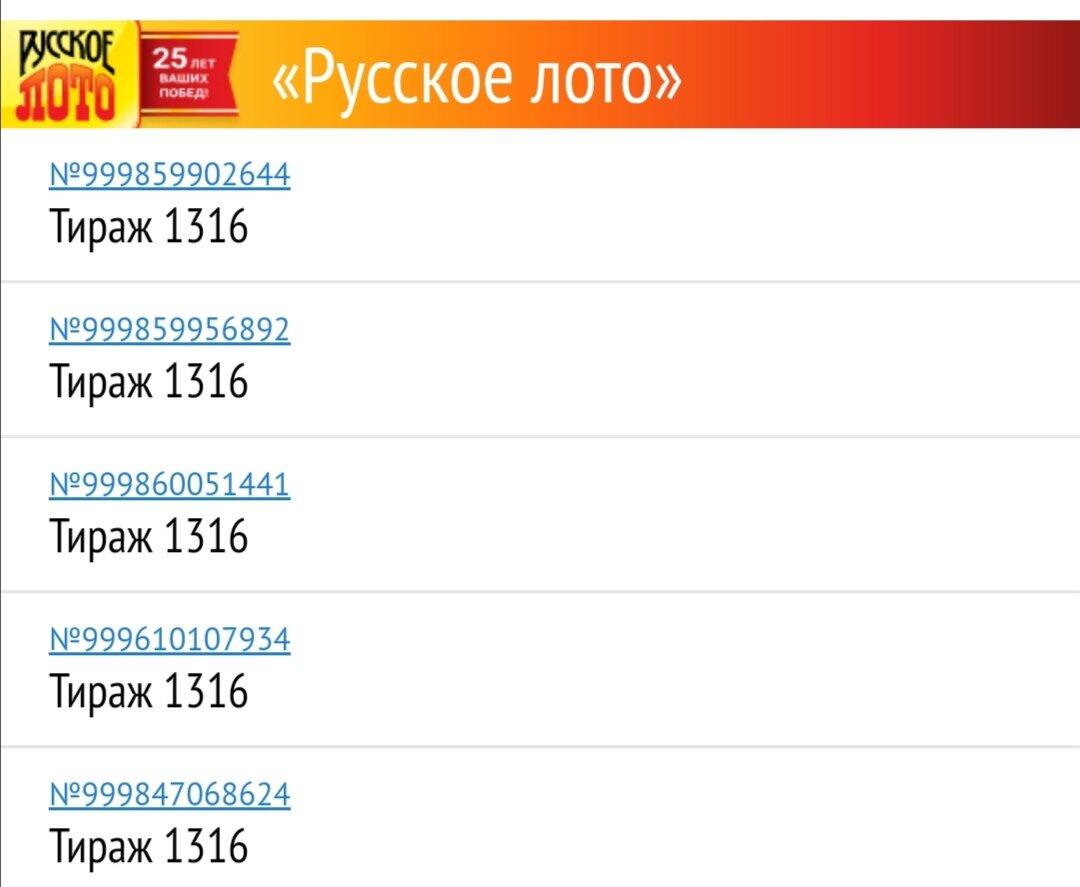 Русское лото от 2 февраля 2020: тираж 1321, проверить билет, тиражная таблица от 2.02.2020