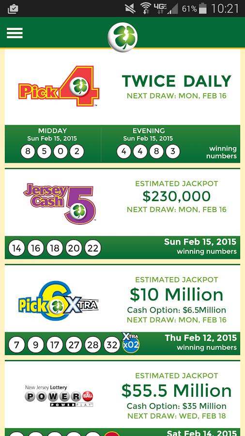 Nj lottery | pick-6 pick-6