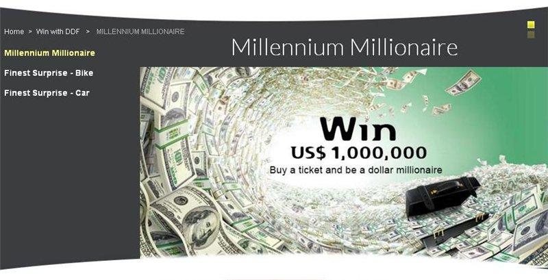 Millennium millionaire, лотерея нового тысячелетия - timelottery