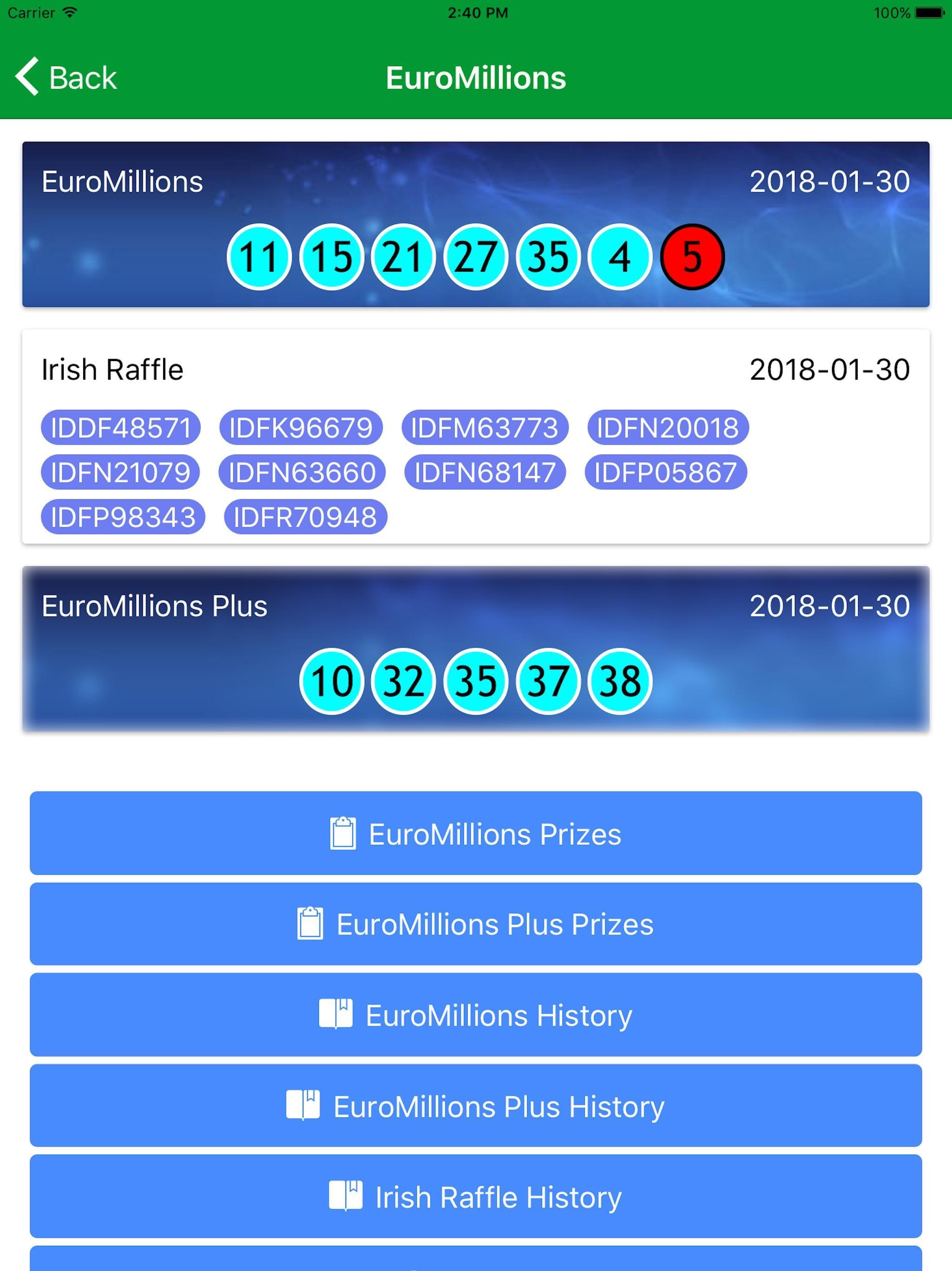 Результаты лотереи «евромиллионы» | тираж: 1327 | 9 июня 2020