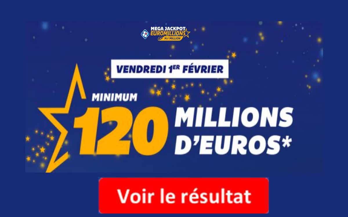 Euromillions: résultat du tirage, statistiques et outils