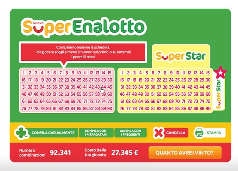 Лотерея superenalotto superstar онлайн — как принять участие из россии + правила | лотереи мира