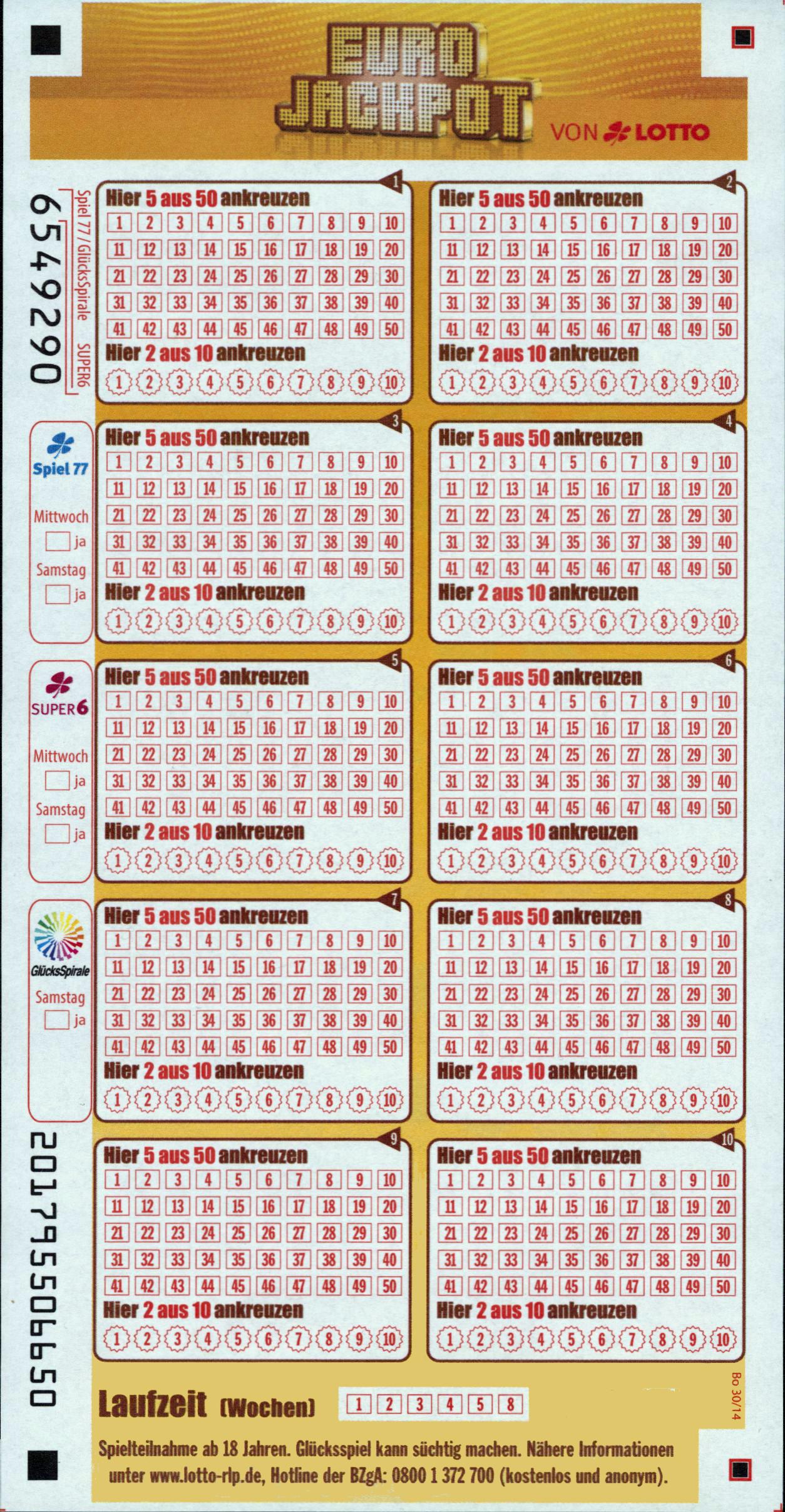 Eurojackpot: aktuelle gewinnzahlen und quoten vom 29.07.16
